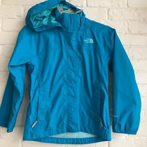 Girls hyVent North face jacket blue Small 7-8
